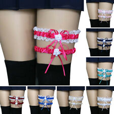 2Pcs Women Sexy Lace Ribbon Bowknot Garter Wedding Party Bridal Cosplay Garter