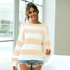 Knitted Jumper Tops Long Sleeve Pullover Sweater Casual Knit Shirt T-Shirt Loose