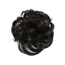 Easy to Wear Real Thick Curly Messy Bun Hair Piece Extensions Hair new Scru N8E2