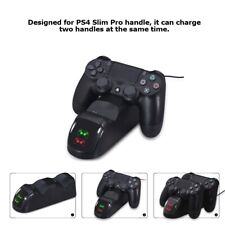 Controller Dual USB Charger LED Dock Station Charging Stand For PS4 PlayStation4