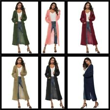 Womens Cardigan Outwear Casual Knitted Long Sleeve Sweater Long Jacket Loose