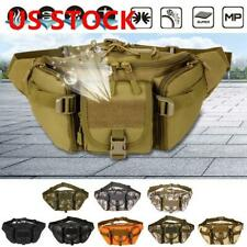 US Tactical Waist Bag Pouch Belt Pack BY Waterproof Hiking Camping Outdoor