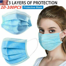 50pcs Disposable Face Mask Filters Bacteria 3-Layers Beauty Medical Masks TR