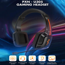 Gaming Headset with Detachable Microphone Stretchable Headphone for XBox