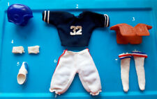 "1975 OJ SIMPSON 10"" shindana FOOTBALL figure -- Head Shirt Pants Shoes Socks"