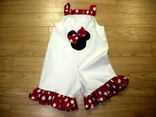 MINNIE MOUSE BOUTIQUE SHORTALL WHT18M-24M-2T-3T-4T-5T-6