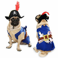 Dog Costume Pirate Pup Clothes Clothing Shirt Cat Puppy