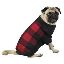 Dog Sweater Coat Clothing Clothes Shirt Checkered Knit