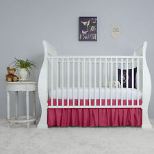 Baby Toddler bed Nursery Crib Gathered Dust Ruffle Bed Skirt 15 inch Drop New