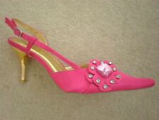 FUSCHIA DIAMANTE WEDDING PROM SHOES ONLY SIZE 3 LEFT