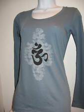 NEWTG Alternative Apparel ORGANIC OM AUM Sanskrit shirt