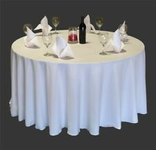 20 Pack 120 Inch Round Polyester Tablecloths 25 Colors High Quality Made in USA