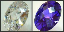 48CT+ BIG LAB CZ FACETED-DOME OVAL *POINTY - 18X24MM
