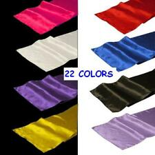 "30 Pack 12"" x 108"" Satin Table Runners 22 Colors Wedding Banquet Made in USA"