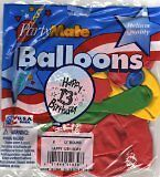 "12"" helium quality latex balloons 