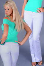 NEW Slinky Sexy Moleton Jeans White Low Rise Bootcut