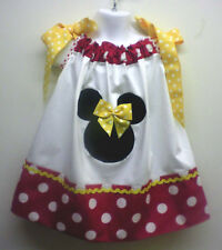 Red and Yellow Minnie Pillowcase Dress 18M 2T 3T 4T 5T +