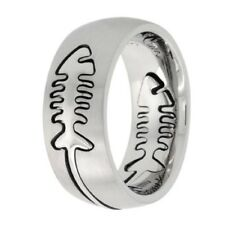 Stainless Steel Band Ring w/ Fish Bone Cut-out,  sz7-14    #rss15