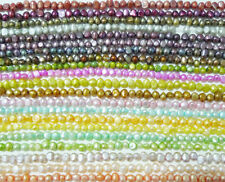 "MULTI COLOR Freshwater Pearls Loose Craft Beads 14"" 4-6mm"