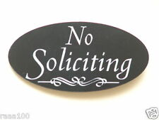 No Soliciting Front Door Home Plaque Many Colors Sign