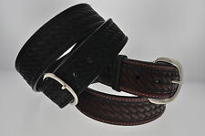 WOMENs 1 5/8 WIDE WESTERN BASKET WEAVE LEATHER BELT 727