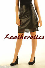 Pure leather ladies skirt black pencil sexy soft new style with net lining np5