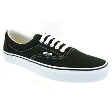 Vans Era Mens Classic Lace Up Trainers Canvas Black White New