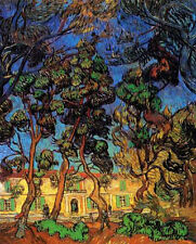 "Vincent Van Gogh- Trees in the Garden of Saint-Paul Hospital 20""x26""   on Canvas"