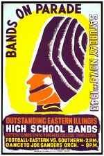 2640 Bands on parade. High School bands. Music quality POSTER. Decor Art.