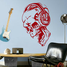 SKULL WITH HEADPHONES  vinyl wall art sticker