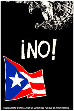 3150 Solidarity with the struggle of people of PR quality POSTER. Decor Art.