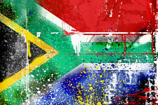 "South Africa-South African  Flag 24""x36"" Canvas Wall Art Print"