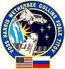 STICKER NASA SPACE SHUTTLE MISSION STS - 63
