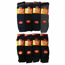 S72 MENS 6prs LONG LENGTH WINTER THERMAL WARMTH OUTDOOR BUILDERS HIKE BOOT SOCKS