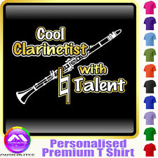 Clarinet Cool Player With Natural Talent - Music T Shirt 5yrs - 6XL MusicaliTee