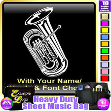 Tuba Picture With Your Words - Sheet Music & Accessories Bag by MusicaliTee