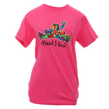 """Peace Frogs Ibis Rose """"Heart & Soul"""" T-Shirt Womens Style Love Calm Happy NEW"""