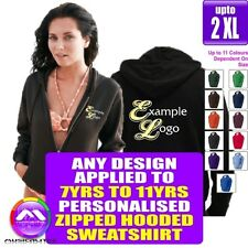 Zipped HOODY 7 - 11 yrs With Any Music Design Personalised by MusicaliTee