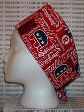 Patriotic Usa Fabrics Surgical Scrub Hat Skull Cap You Pick Medical Nurse Chemo