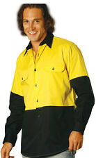 Safety Shirt,Long Sleeve, Hi Vis,Hi Viz,Work Wear,S,M,L,XL,2XL,3XL,5XL,7XL,