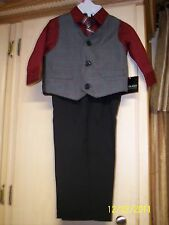 NWT Holiday Editions Boys Size 12M, 18M, 24M, 3T, 4T, OR 5T 4-Piece Suit