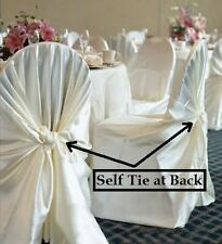 70 NEW WEDDING PARTY UNIVERSAL SELF TIE CHAIR COVER  RESTAURANT DECORATION