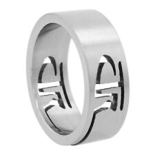 Stainless Steel CTR (Choose The Right) Cut-Out Wedding Band Ring, Matte Finish