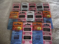 Hand Sewing Needles -Embroidery ,Cross Stitch, Beading, Darners, Tapestry & More