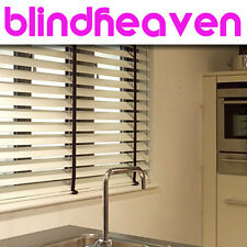 WOOD WOODEN VENTIAN BLINDS WITH TAPES MADE TO MEASURE FROM £22  / FACTORY DIRECT