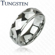 Tungsten Carbide Ring Multi Facet Prism Size 9,10,11,12,13,14 (f24)