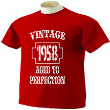 56th Birthday T-Shirt 56 Years Old Vintage 1958 Aged To Perfection