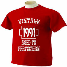 24th Birthday T-Shirt 24 Years Old Vintage 1991 Aged To Perfection