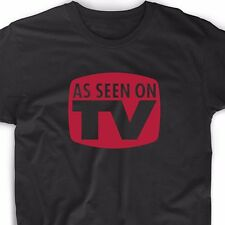 As Seen On TV T Shirt Funny Geek Meme Emo Club Nerd Vintage Retro College Tee