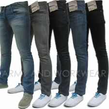 SKINNY FIT MENS DENIM JEANS - DESIGNER RETRO CLASSIC INDIE ROCK PANTS TROUSERS